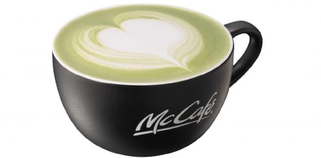 「抹茶ラテ」は、京都産のほろ苦い宇治抹茶に牛乳を加えた、ノンコーヒードリンク