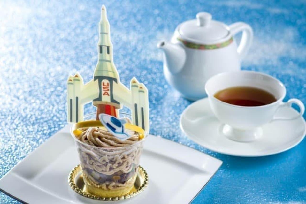 TDLのアトラクション「スタージェット」のクローズを記念したスペシャルケーキセット