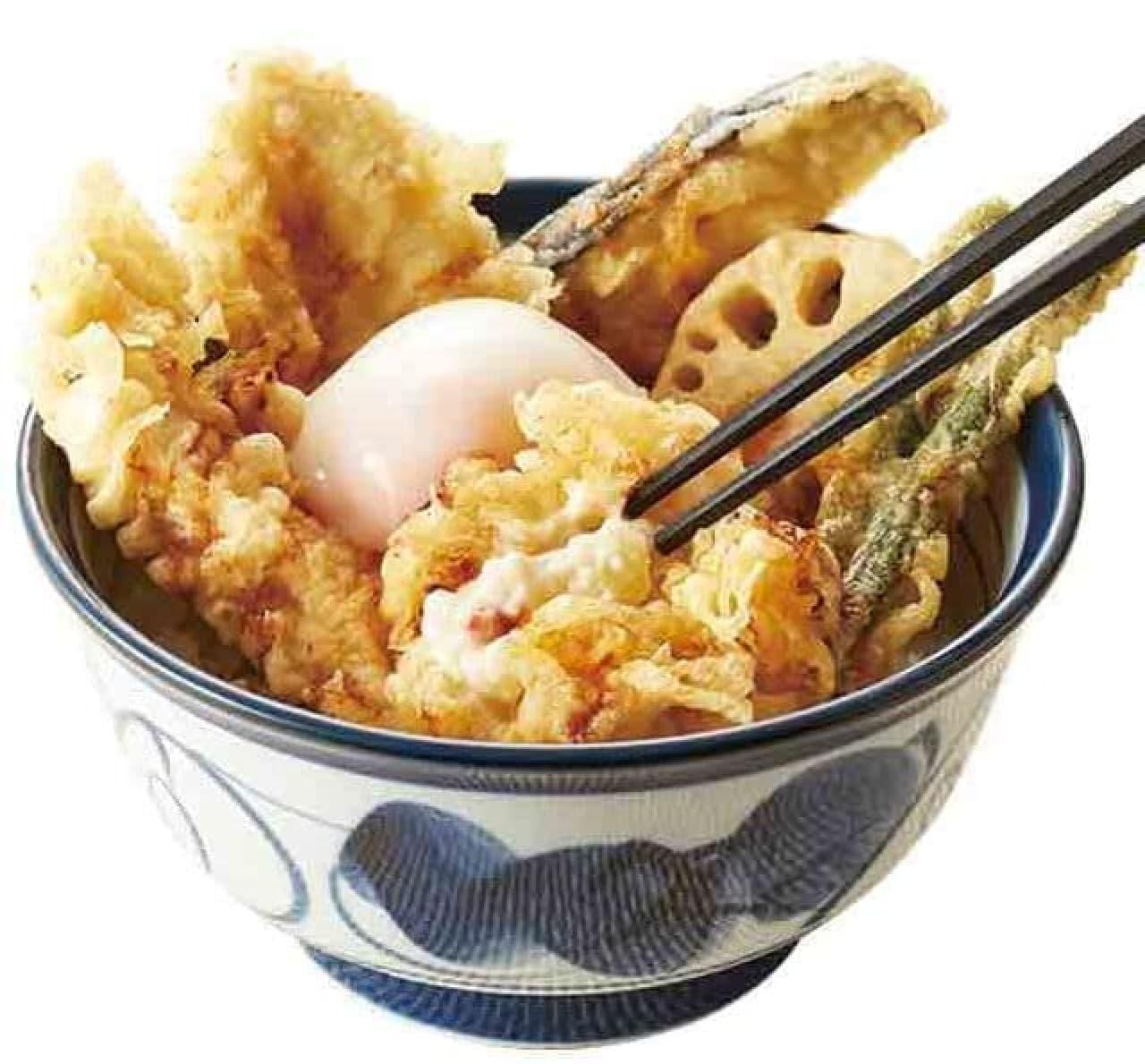 てんやの季節限定メニュー『播州赤どり天丼』