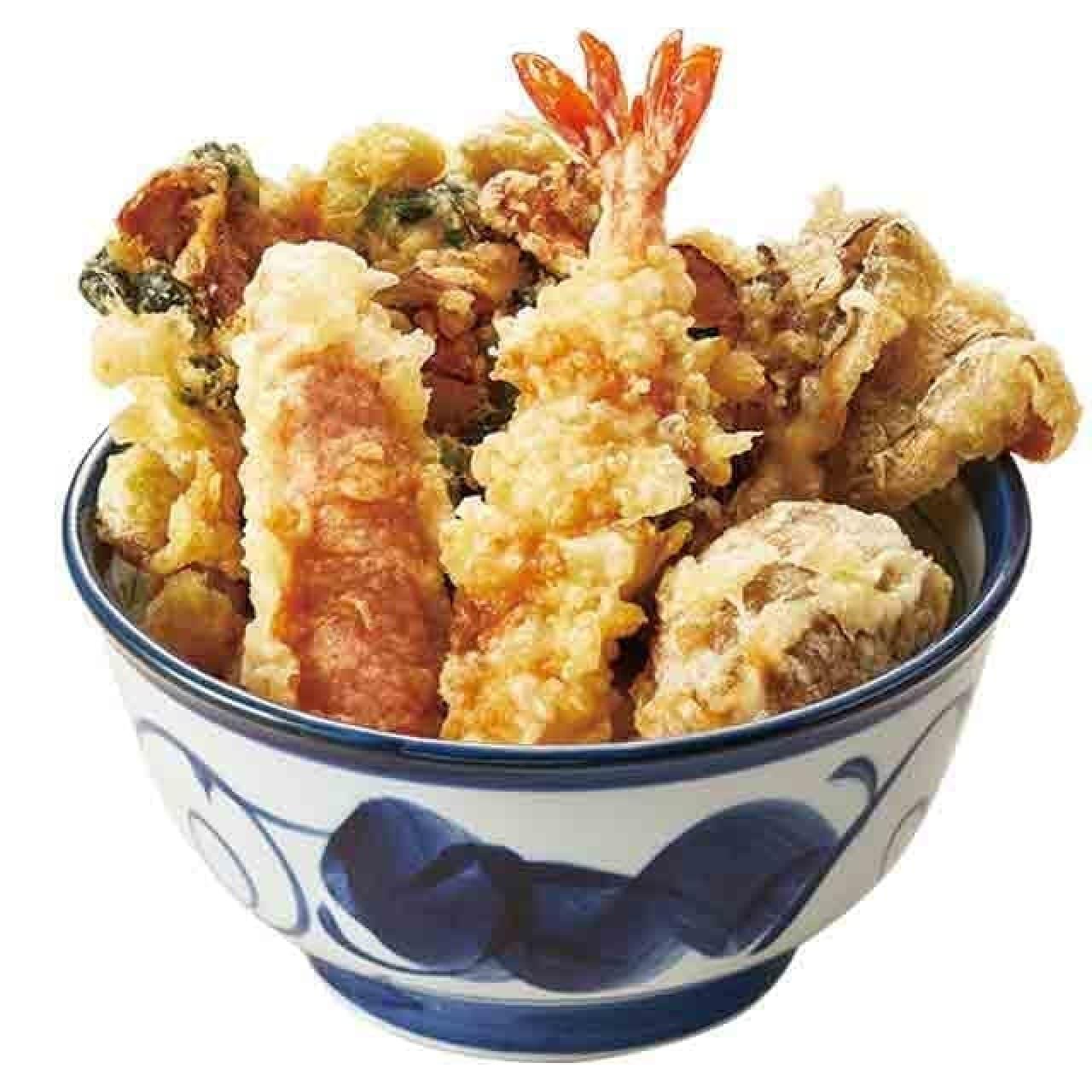 てんやの季節限定メニュー『松茸かき揚げ天丼』