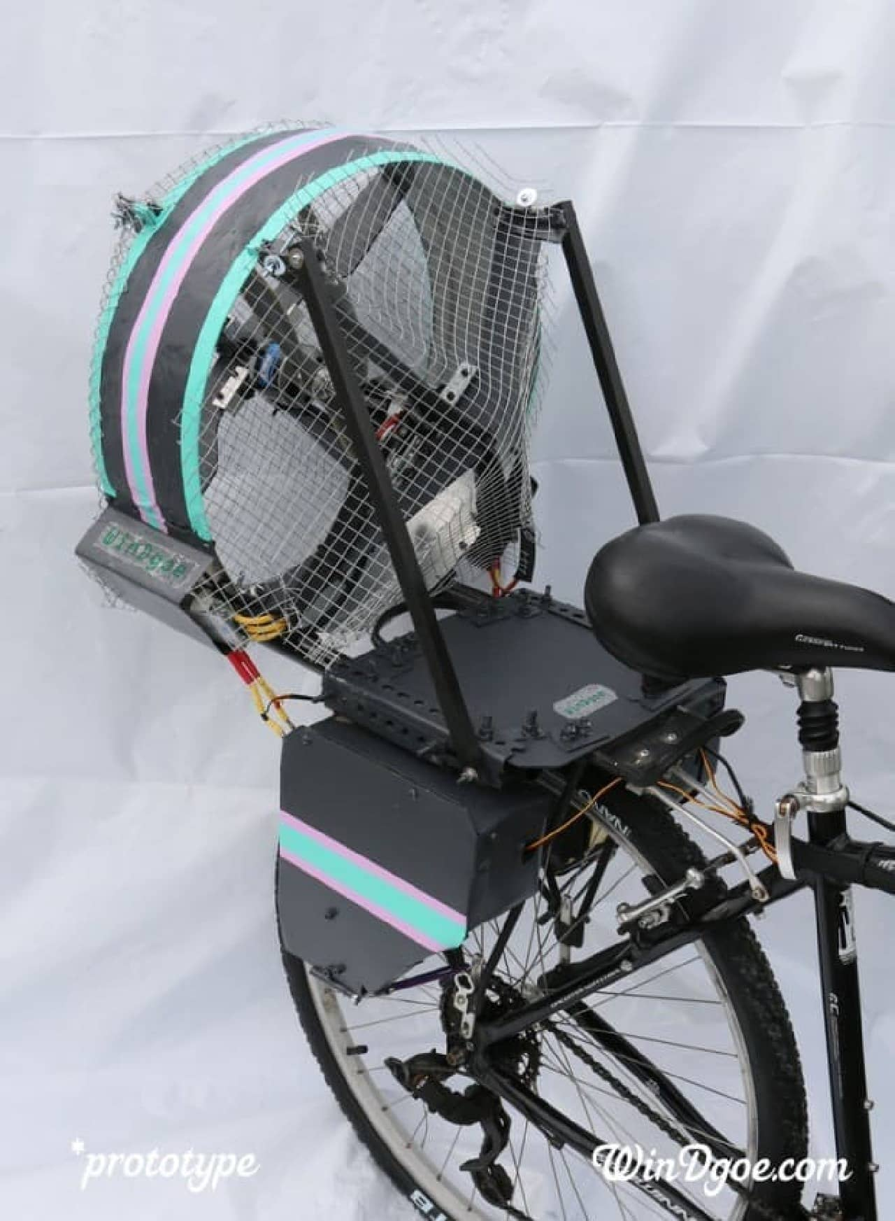 プロペラで自転車をアシストするWindgoe
