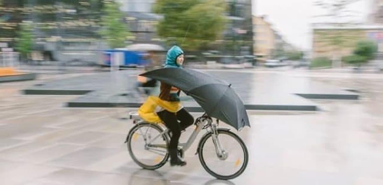 自転車用の傘「UNDER-COVER」