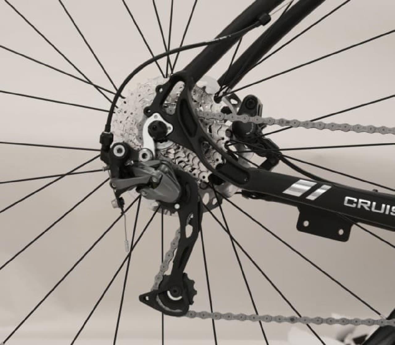 クロスバイクタイプの電動アシスト自転車「CRUISE」