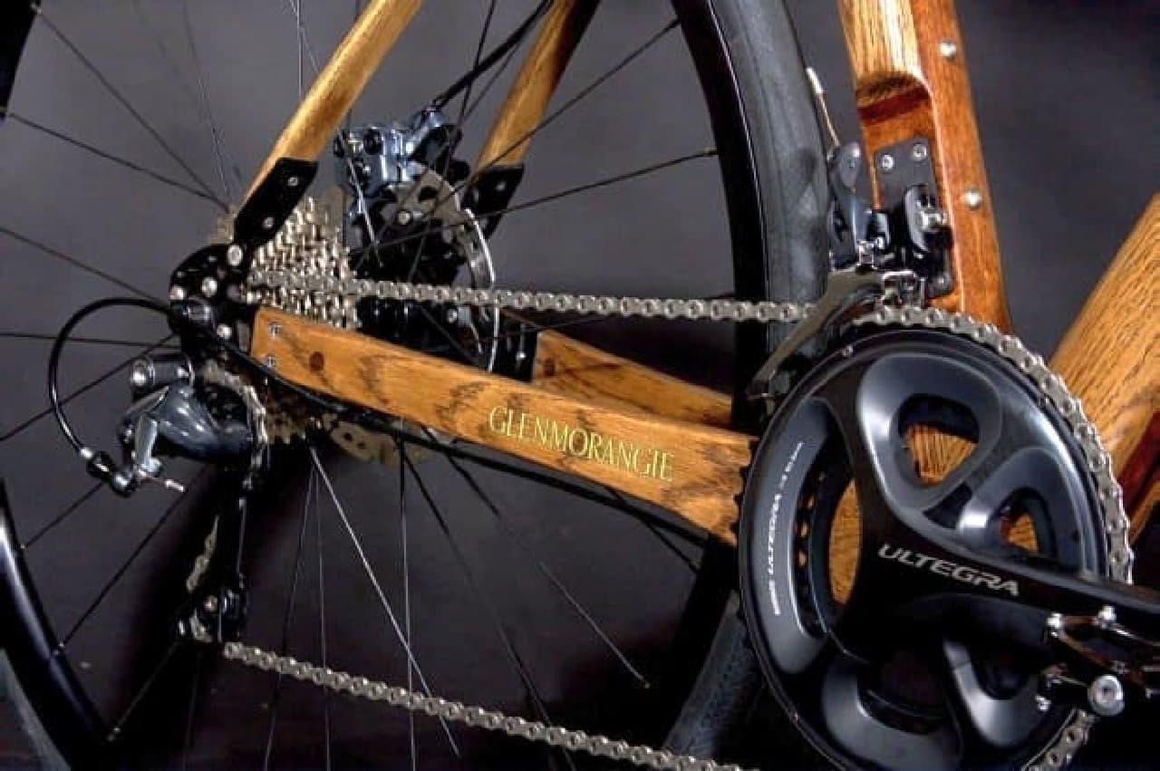 ウィスキー樽で作った木製自転車「Glenmorangie Original」