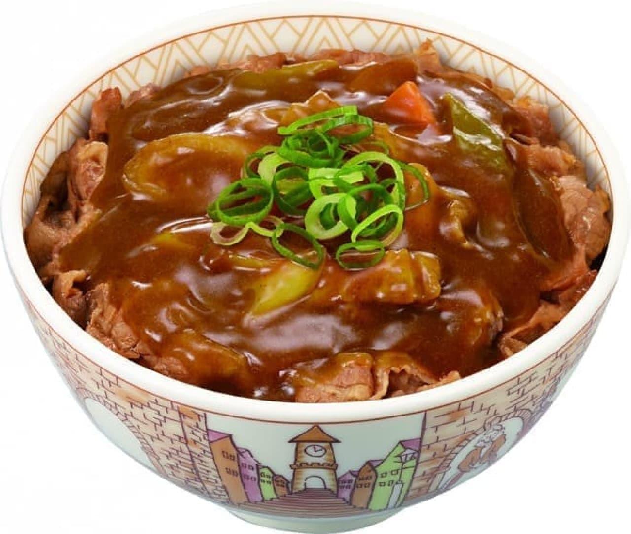 すき家の「カレー南蛮牛丼」