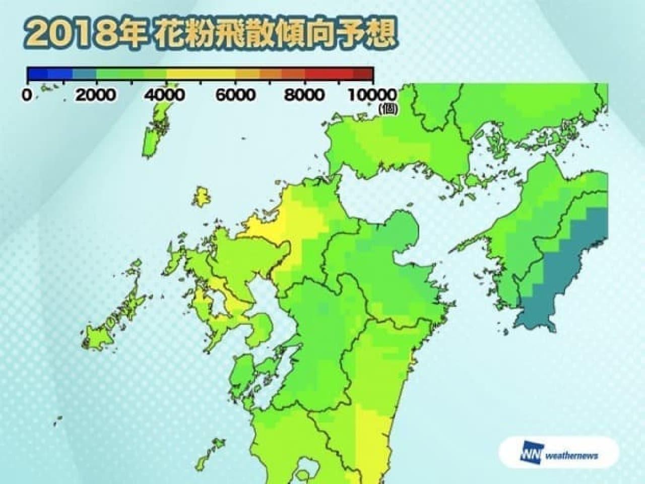 花粉飛散予想 九州北部
