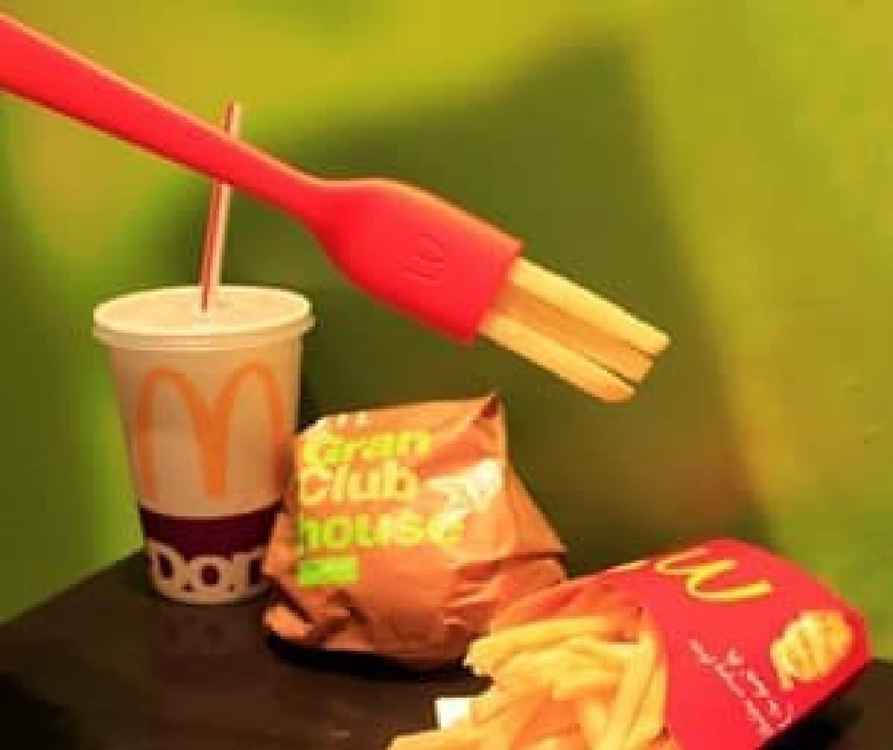 食べられるフォーク、マクドナルドの「FRORK(フローク)」