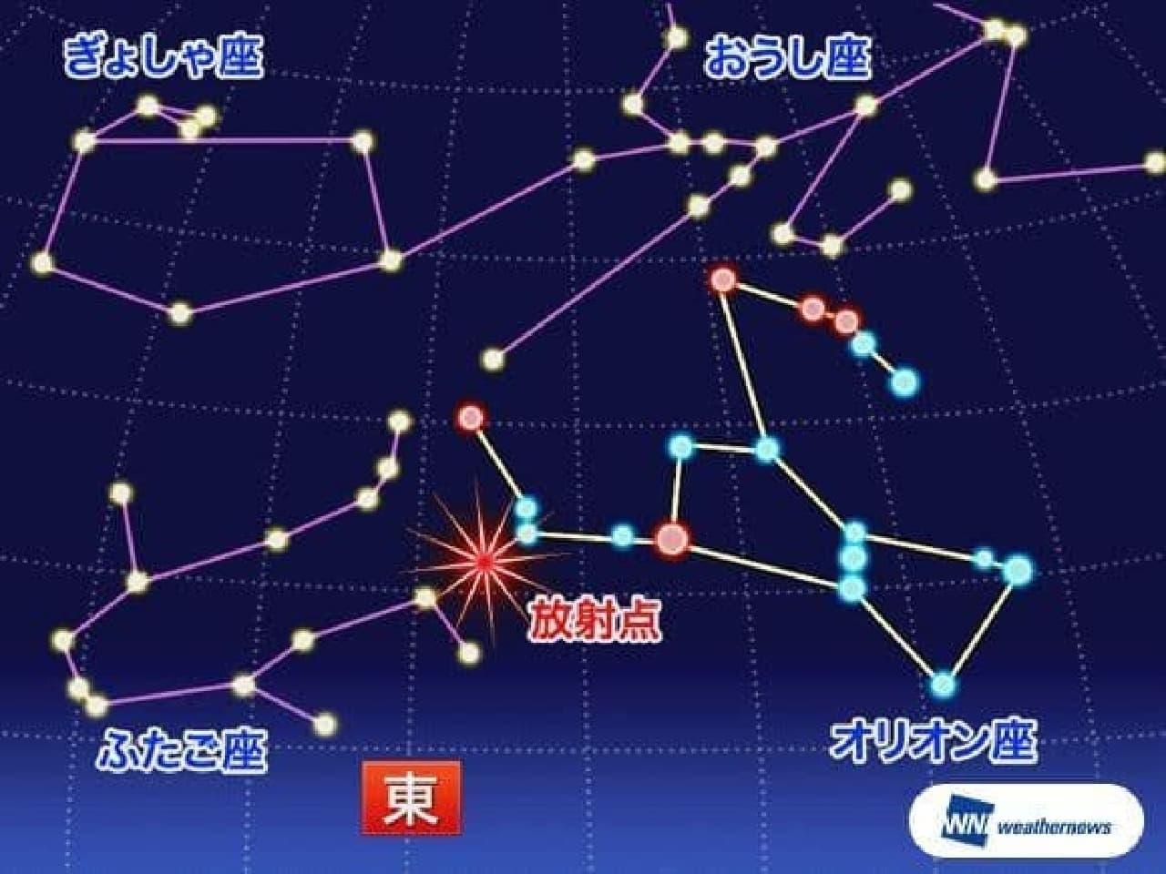 10月21日は「オリオン座流星群」