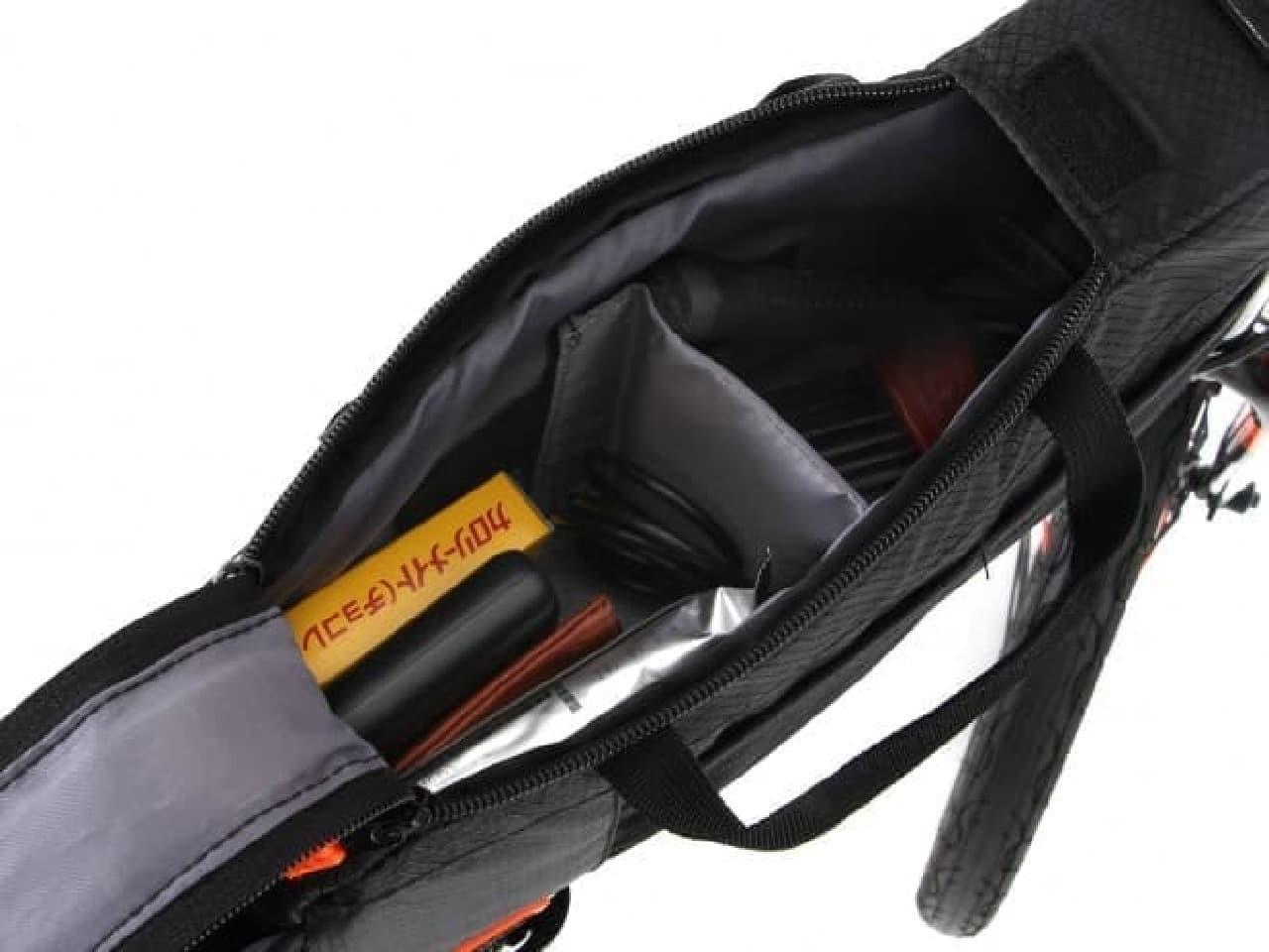 自転車フレーム取り付け型バッグ「トップチューブバッグ」