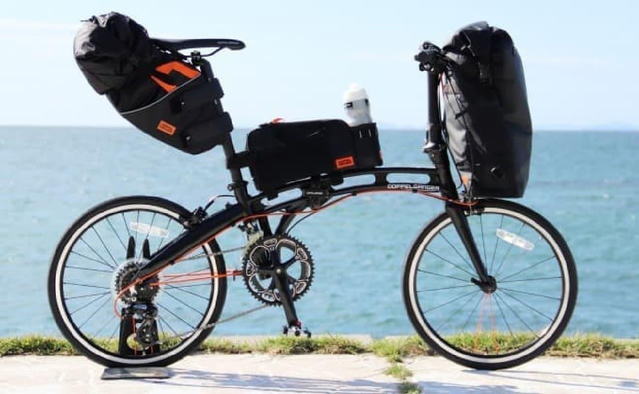 自転車フレーム取り付け型バッグ「トップチューブバッグ