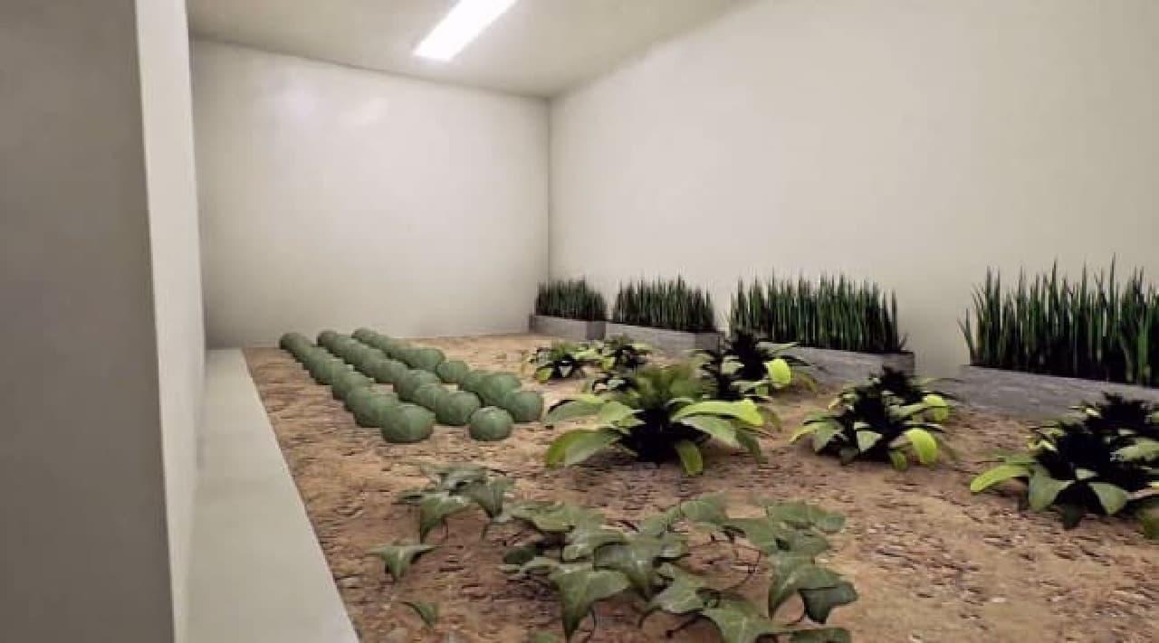 「Luxury Series」核シェルターのシェルター内菜園