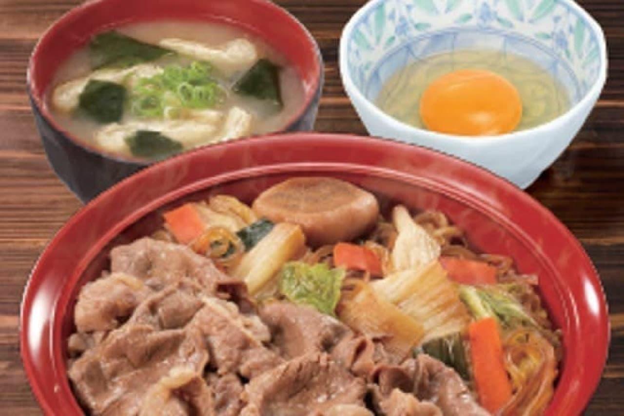 和牛すき焼き丼のイメージ