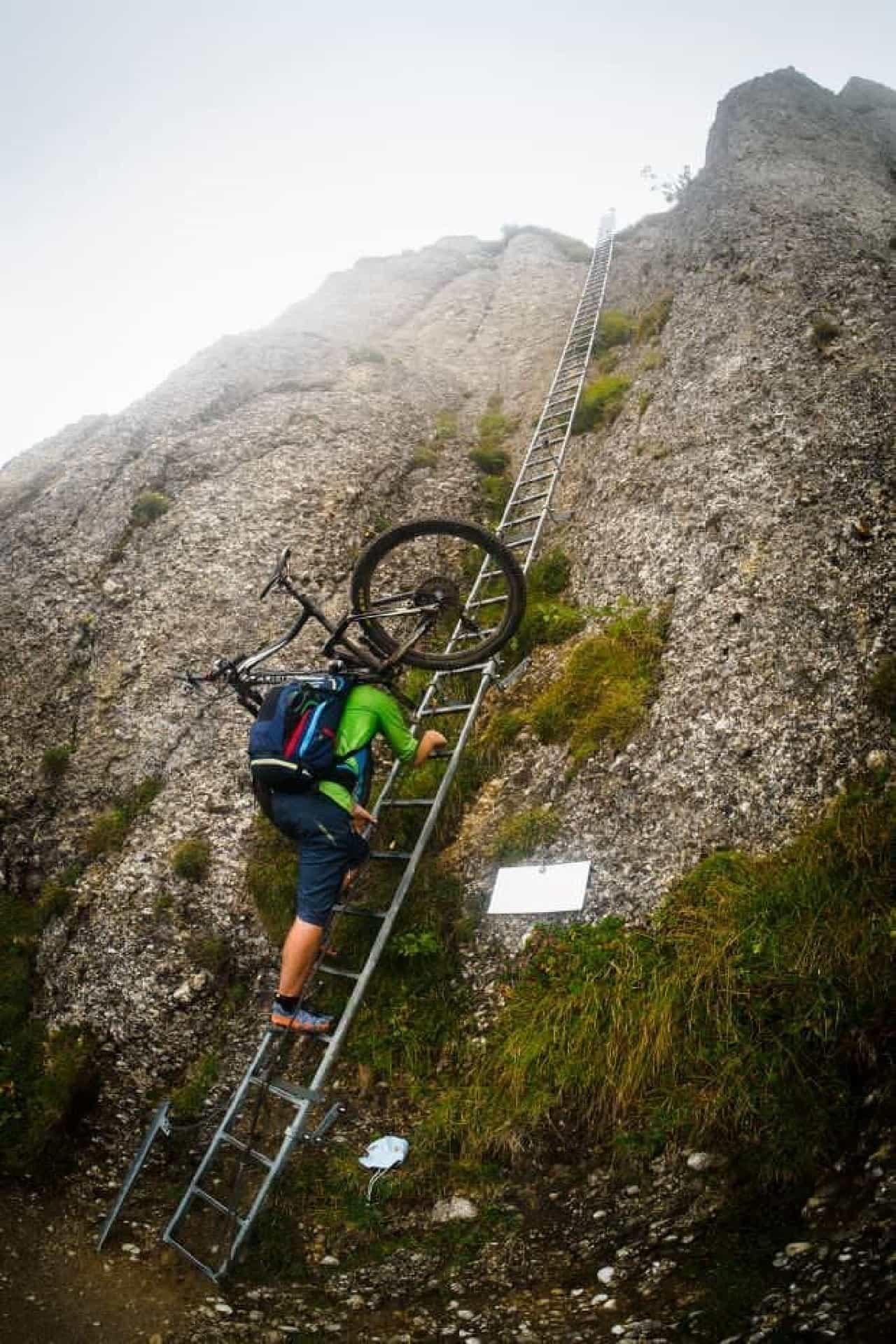 ハンズフリーで自転車を運べる「PeakRider」