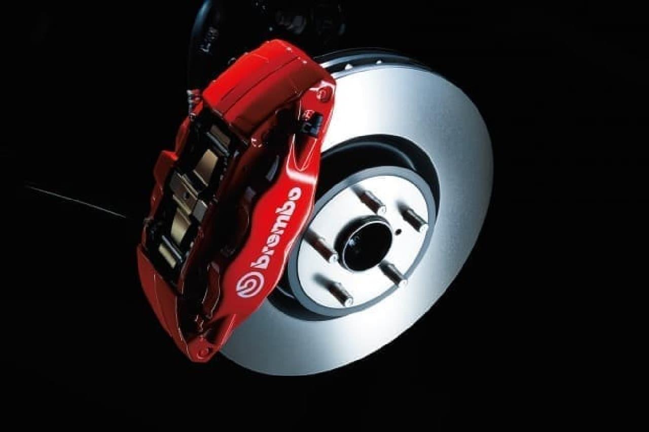 SUBARU BRZに最上級グレード「STI Sport」 brembo製ブレーキキャリパー(フロント)
