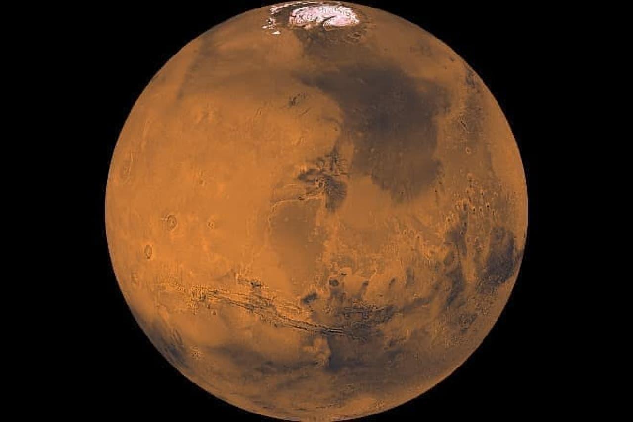 NASAによる火星のイメージ