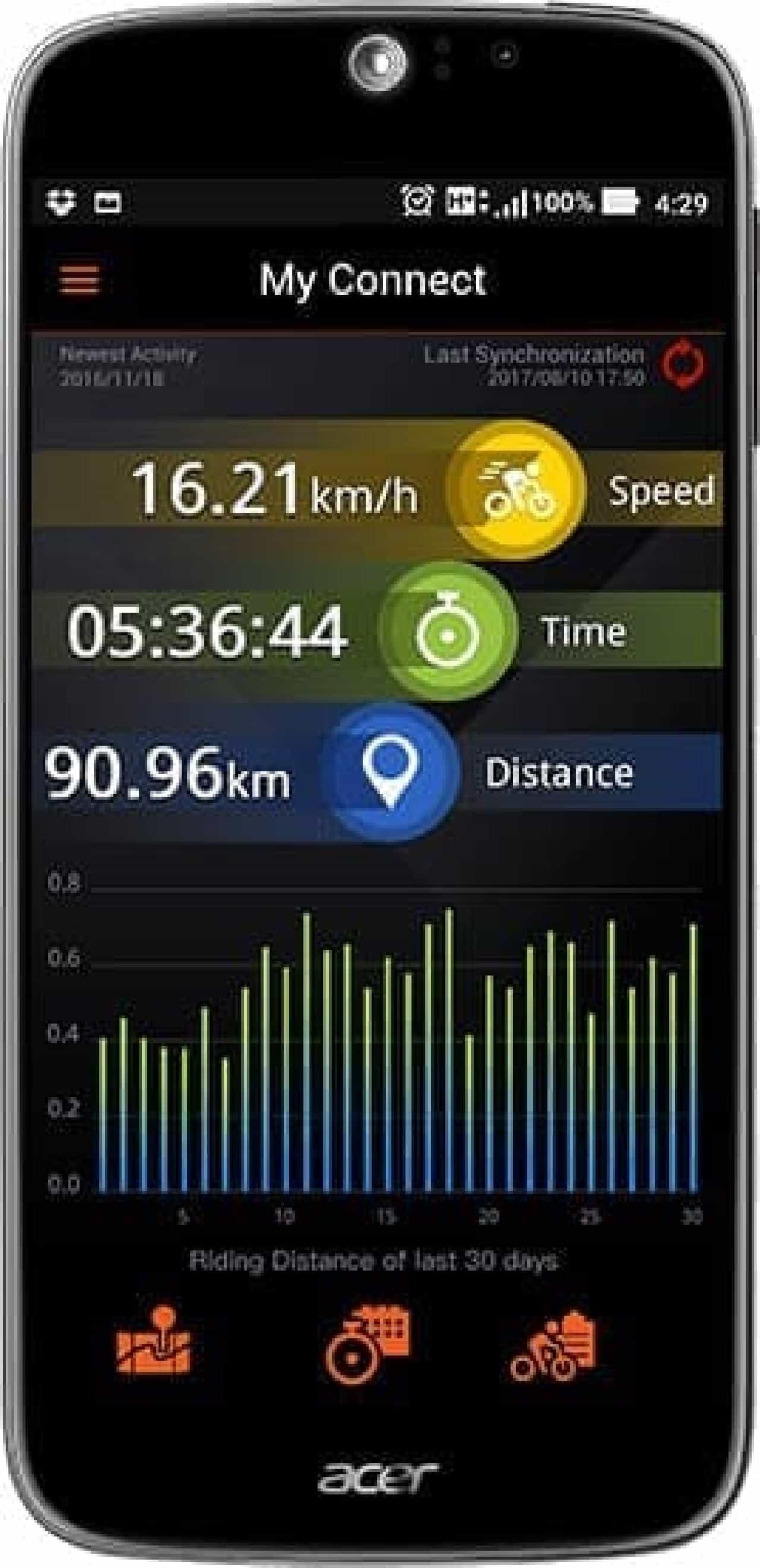 自転車用ドラレコ機能付きGPSサイコン「Xplova X5-Evo」