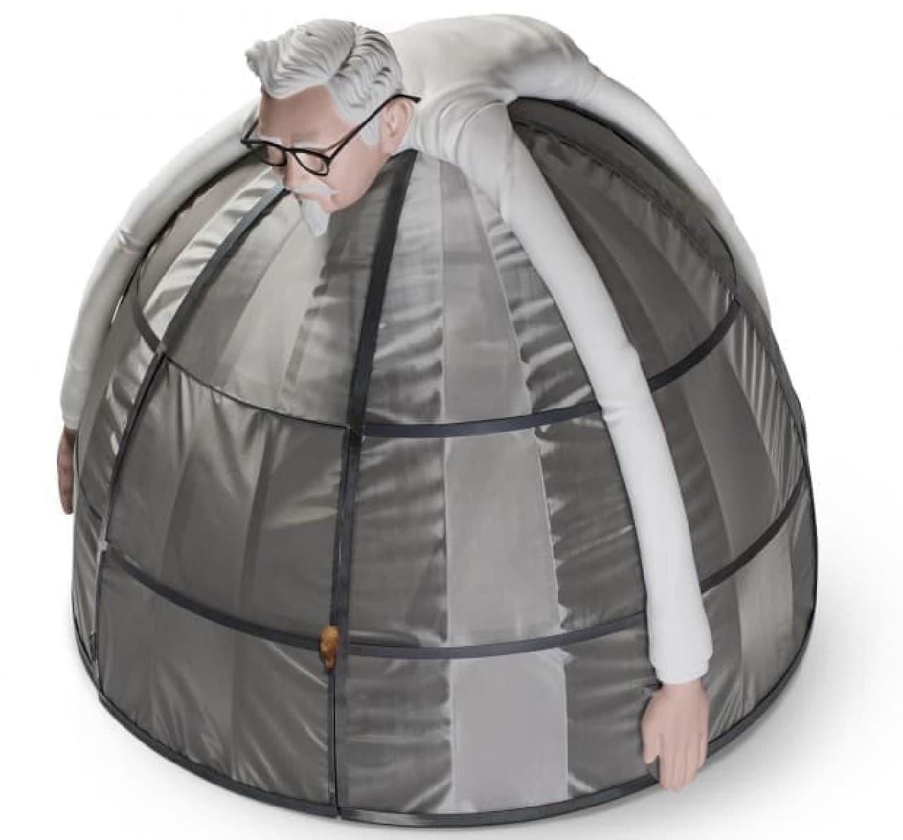 KFCの携帯電波遮断テント「Internet Escape Pod」