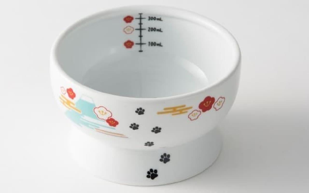 ネコのための食器 猫壱ハッピーダイニングシリーズに、新春向け「FUJI柄」