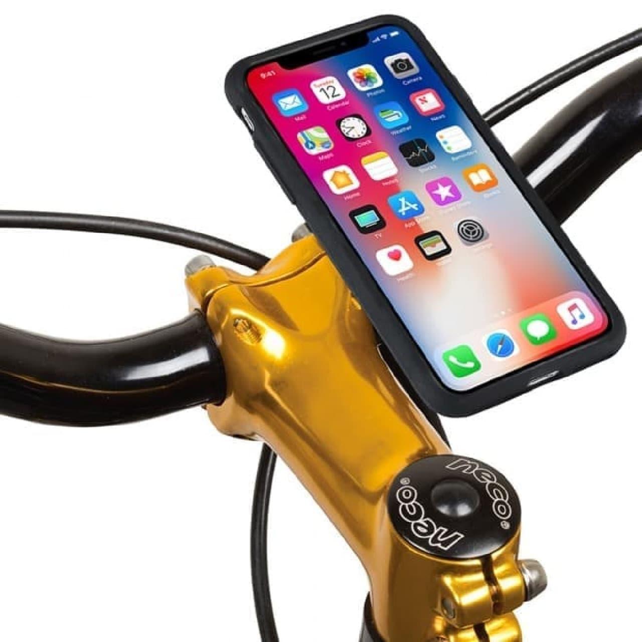 自転車用スマートフォンホルダー「MountCase(マウントケース)」