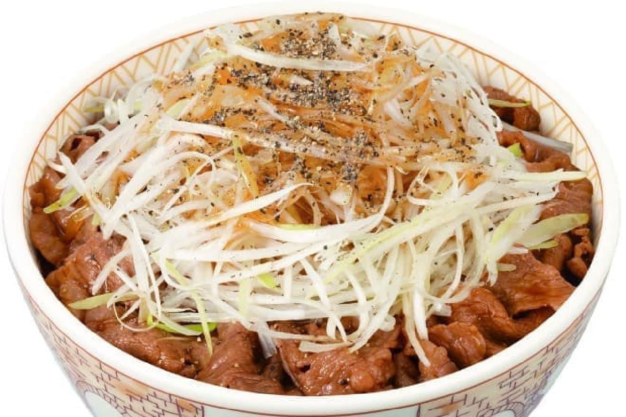 白髪ねぎ牛丼のイメージ