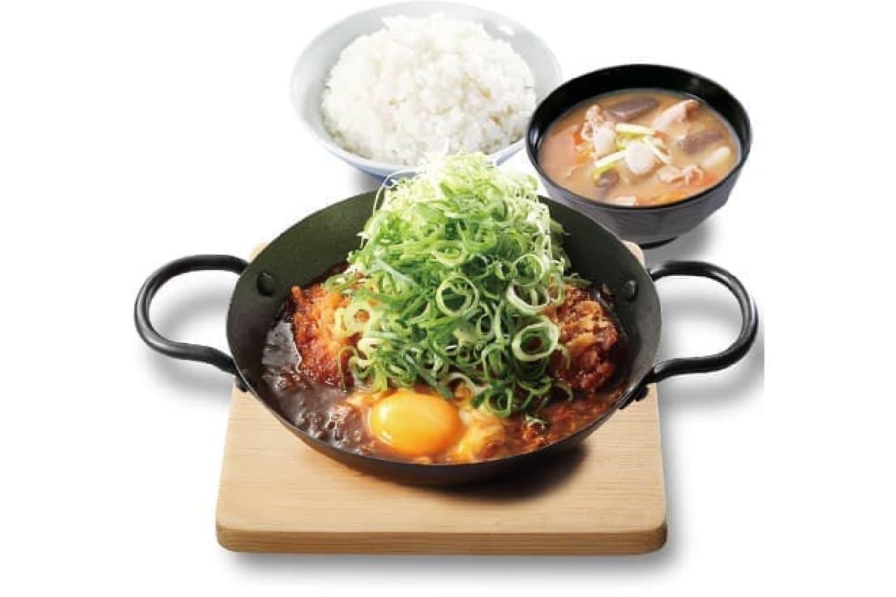 青ねぎ味噌カツ鍋定食のイメージ