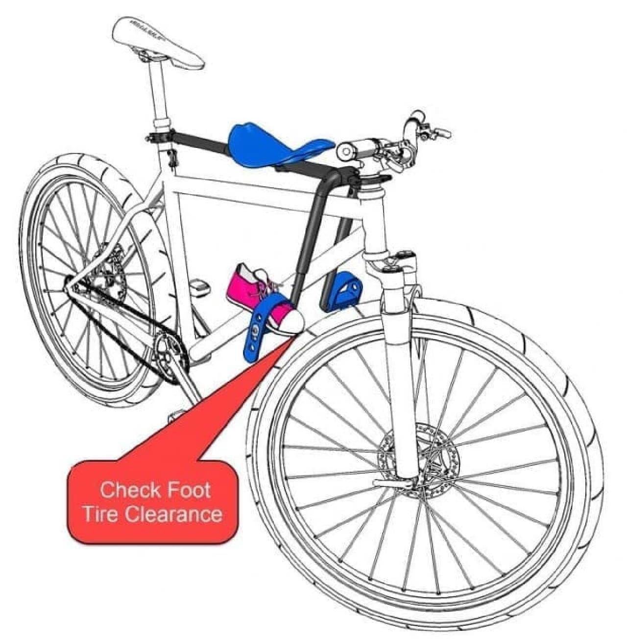 子どもをマウンテンバイクに乗せるチャイルドシート「MacRide」