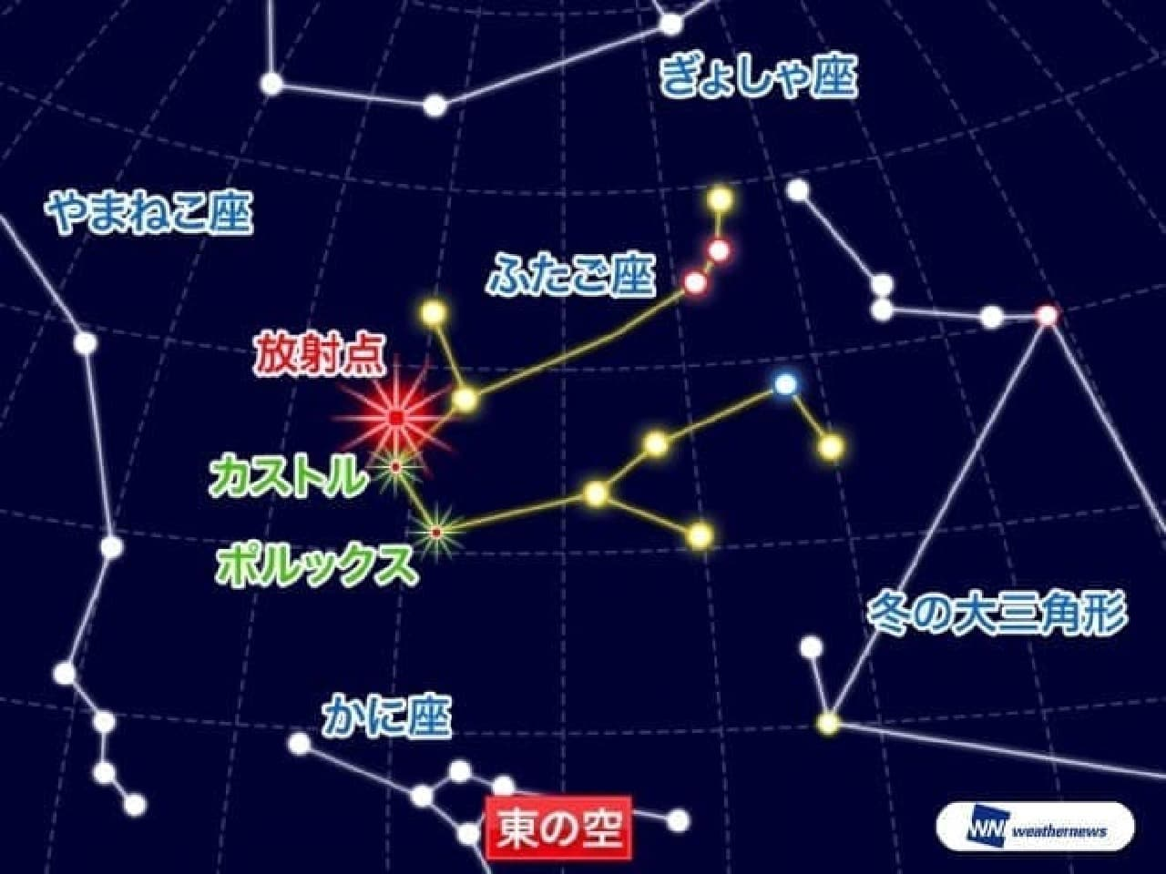 明日は「ふたご座流星群」-ウェザーニューズが最新の天気傾向を発表