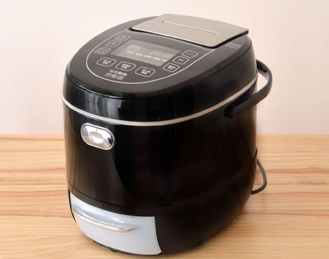 炊くだけで糖質を33%カットする炊飯器、サンコー「糖質カット炊飯器」