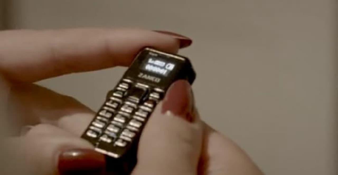 「Zanco tiny t1」は世界一小さい携帯電話