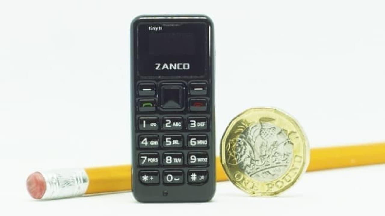 世界一小さい携帯電話「Zanco tiny t1」、2018年発売