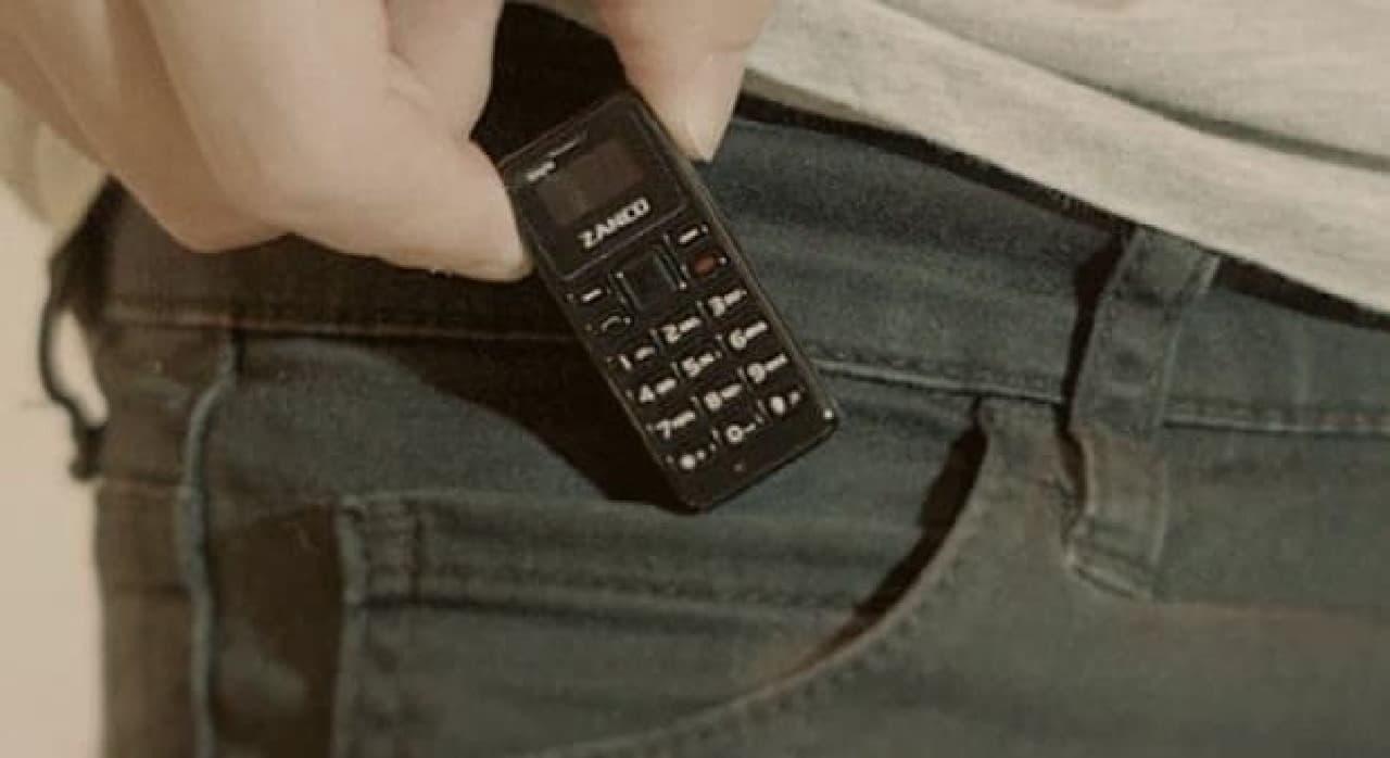 世界一小さい携帯電話「Zanco tiny t1」