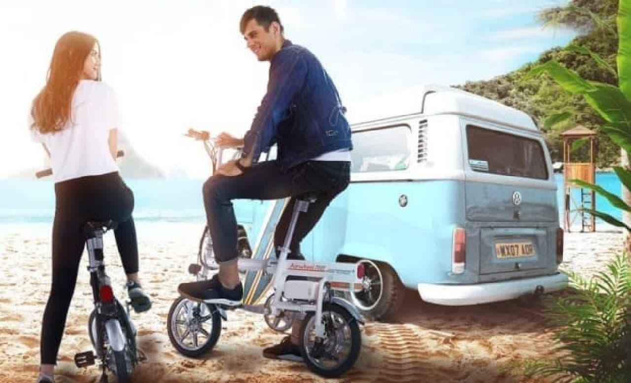 電動バイク「Airwheel R6」-電動折り畳み機能付き