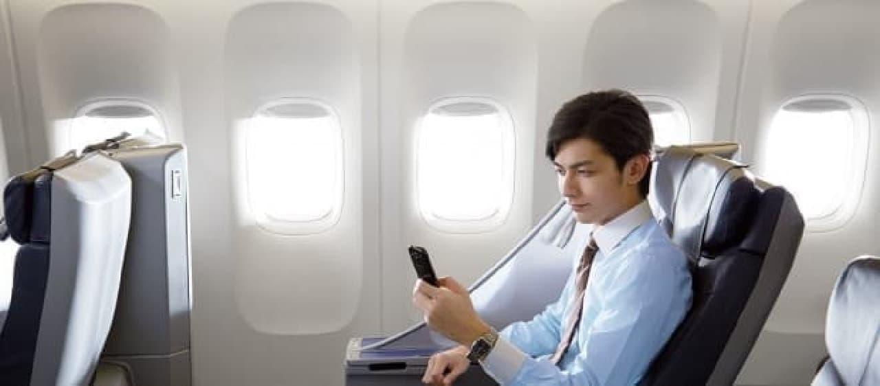 ANAの機内Wi-Fiイメージ