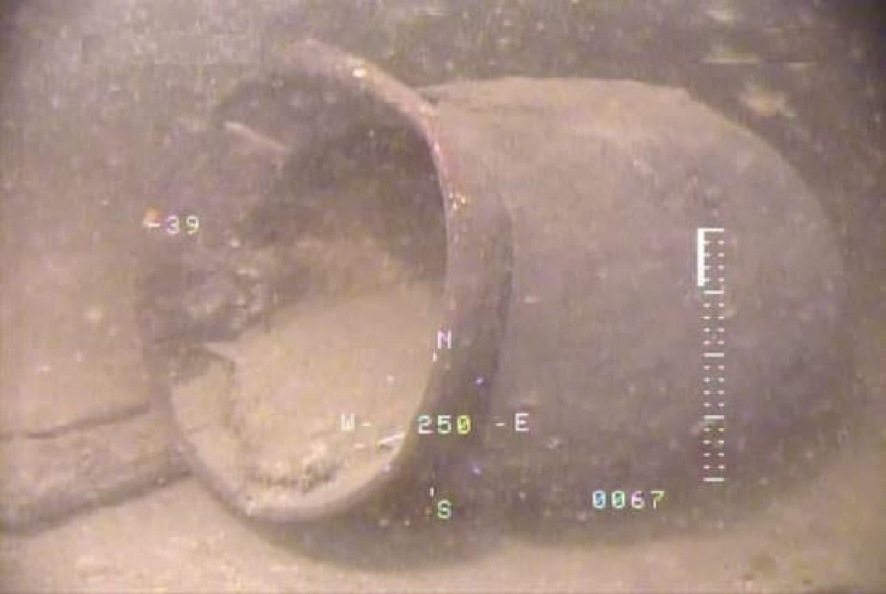 水中土器のイメージ
