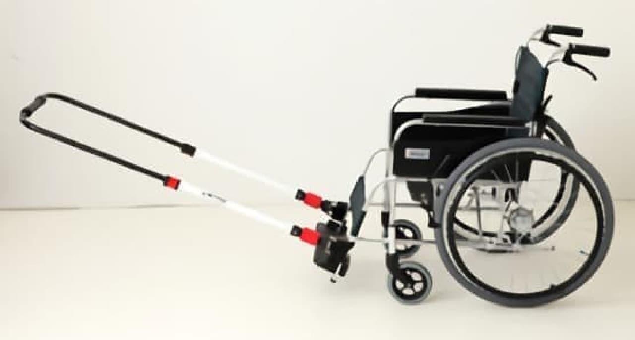 けん引式車いす補助装置「JINRIKI(ジンリキ)」