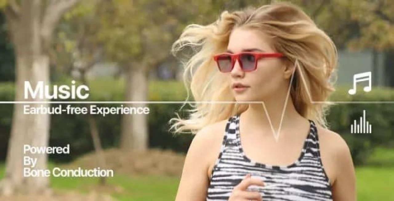 メガネ型骨伝導ヘッドフォン「LET」