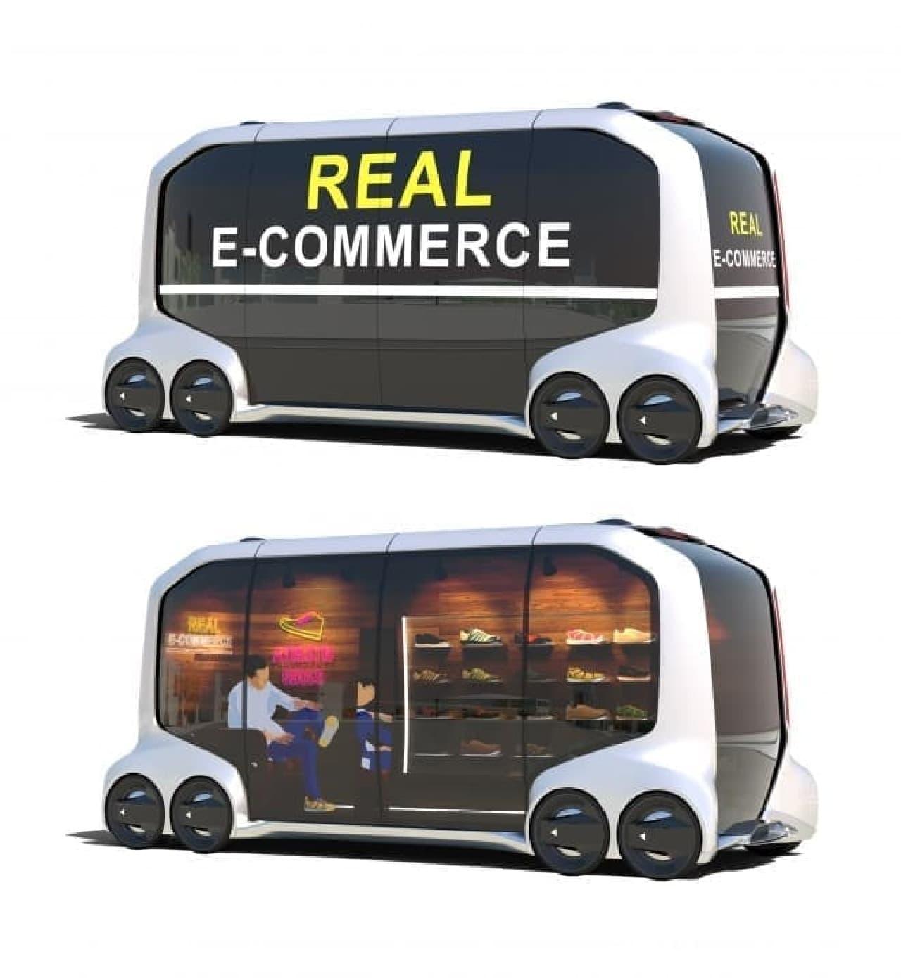 自動運転EVのイメージ