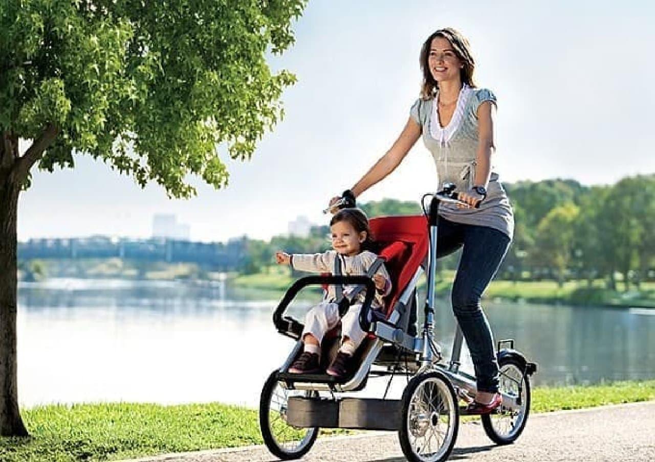 自転車機能を持つストローラー「Taga Bike-Stroller」