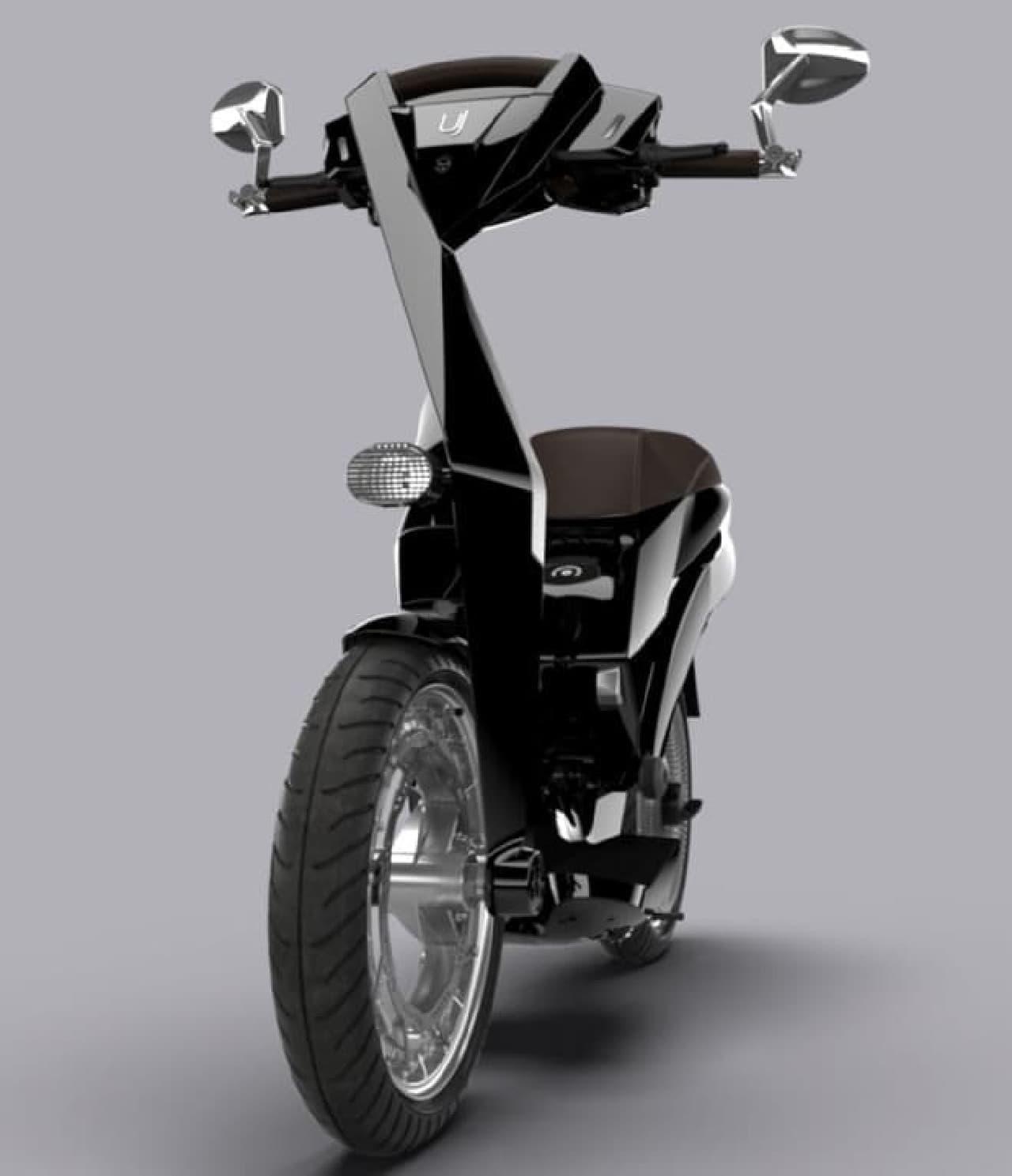 スポークやハブのない折り畳み電動バイク「Ujet」