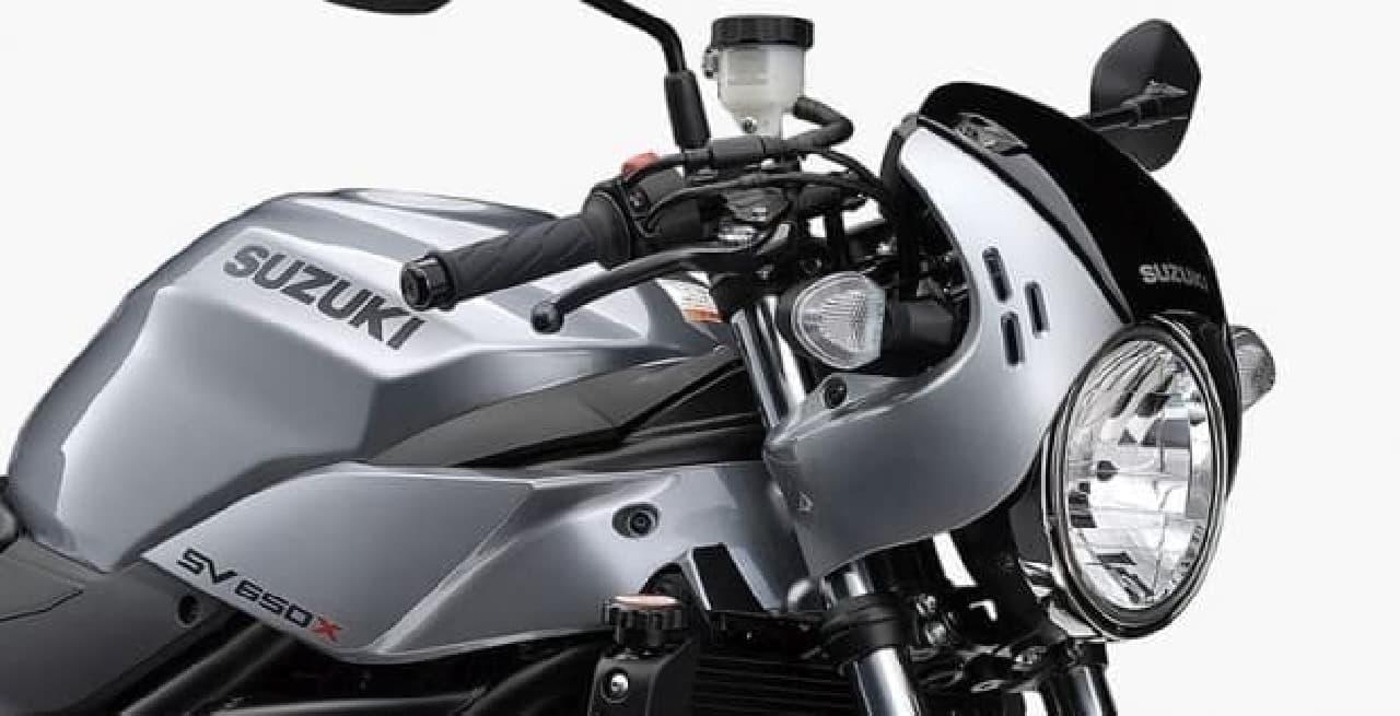 カフェレーサースタイル!-スズキ新型「SV650X」