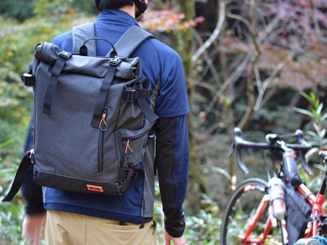 背負える自転車用パニアバック「サイドバックパック」、