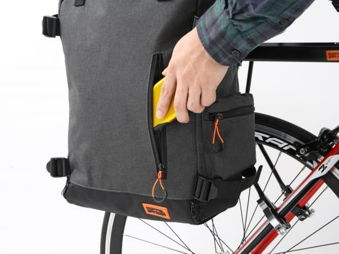 背負える自転車用パニアバック「サイドバックパック」