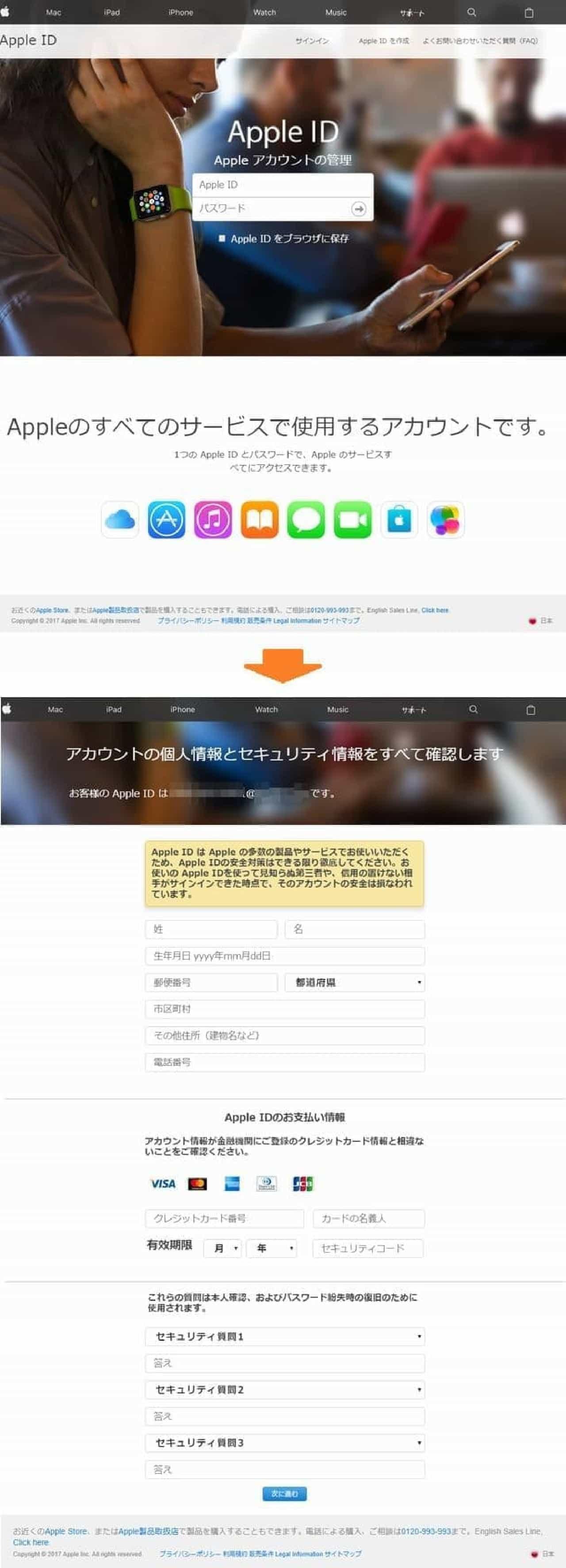 詐欺サイトのイメージ