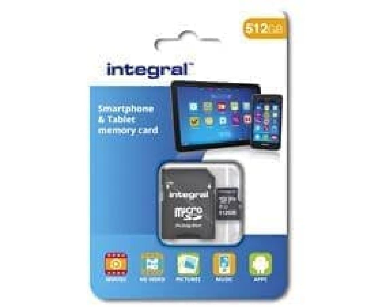512GBのmicroSDカード、Integralから