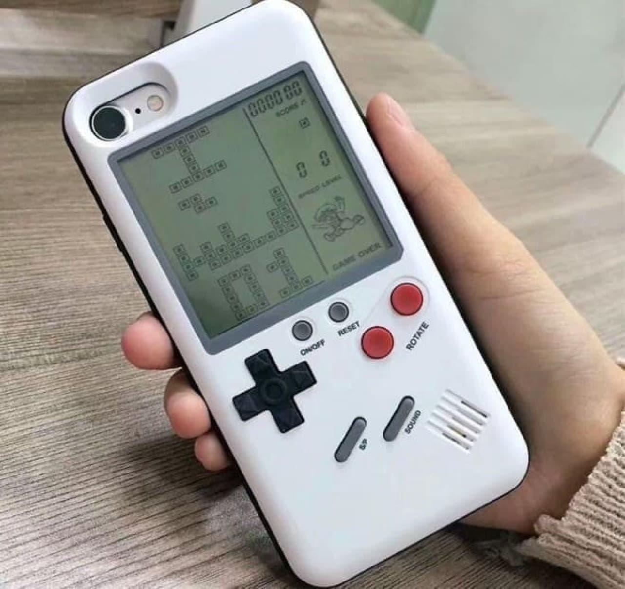 テトリスをプレイできるiPhone用カバー「DOITOP Game Console Cover Case」
