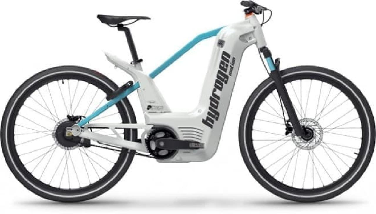 水素で走る自転車「Alpha bike」