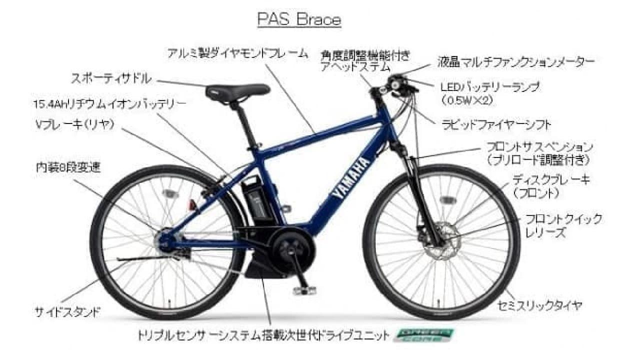 スポーティな電動アシスト自転車 ヤマハ「PAS VIENTA5」「PAS Brace」に2018年モデル