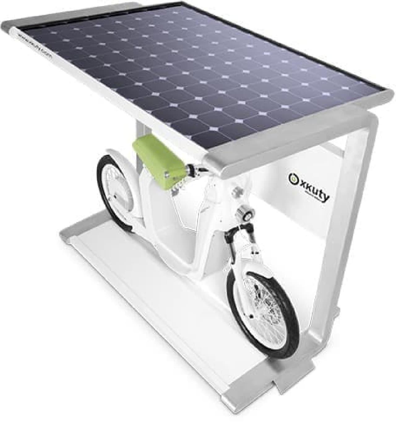 太陽電池で充電するパーキングステーション「Spark」