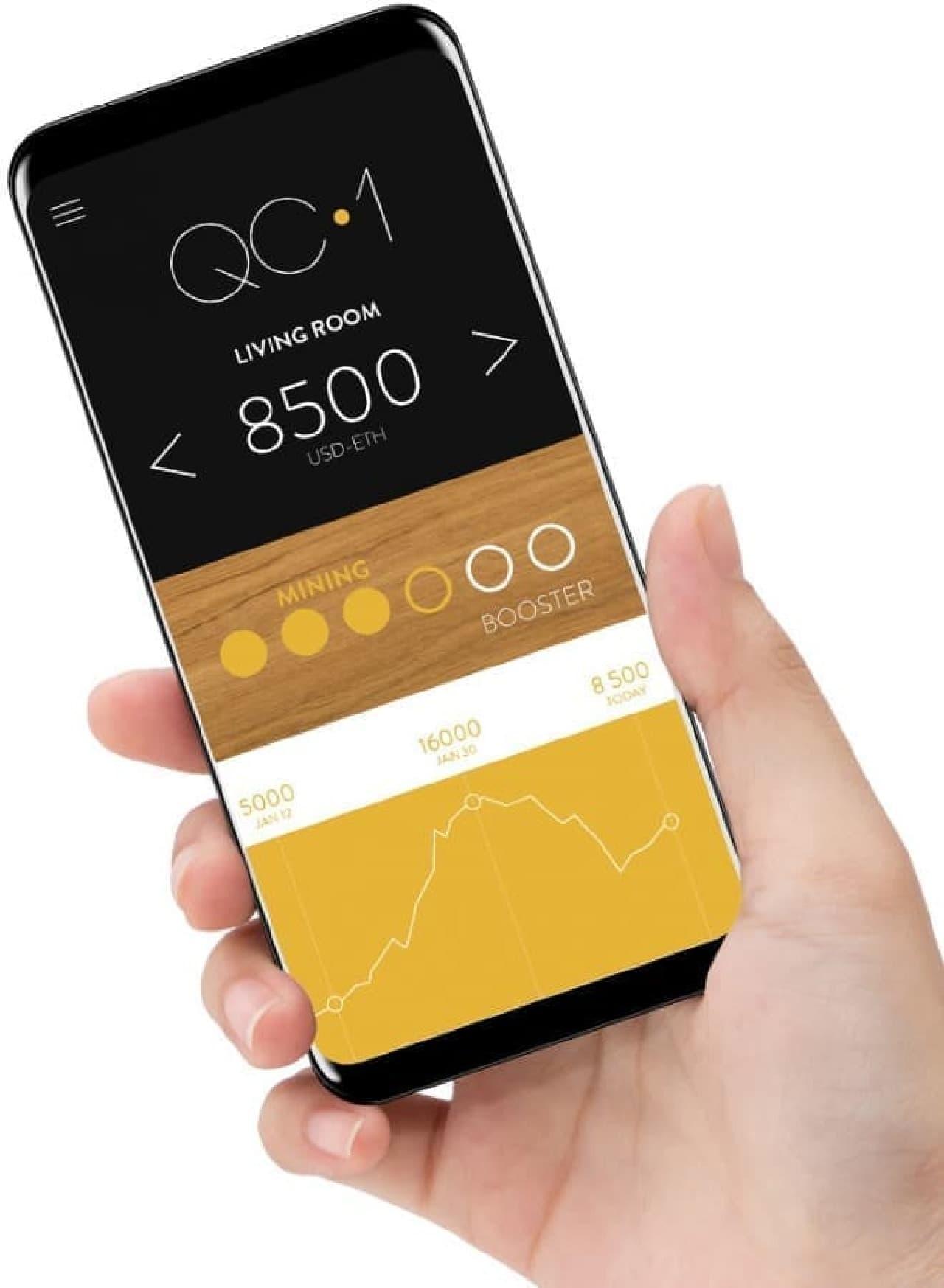 仮想通貨をマイニングする熱で部屋を暖めるヒーター「Crypto Heater QC-1」