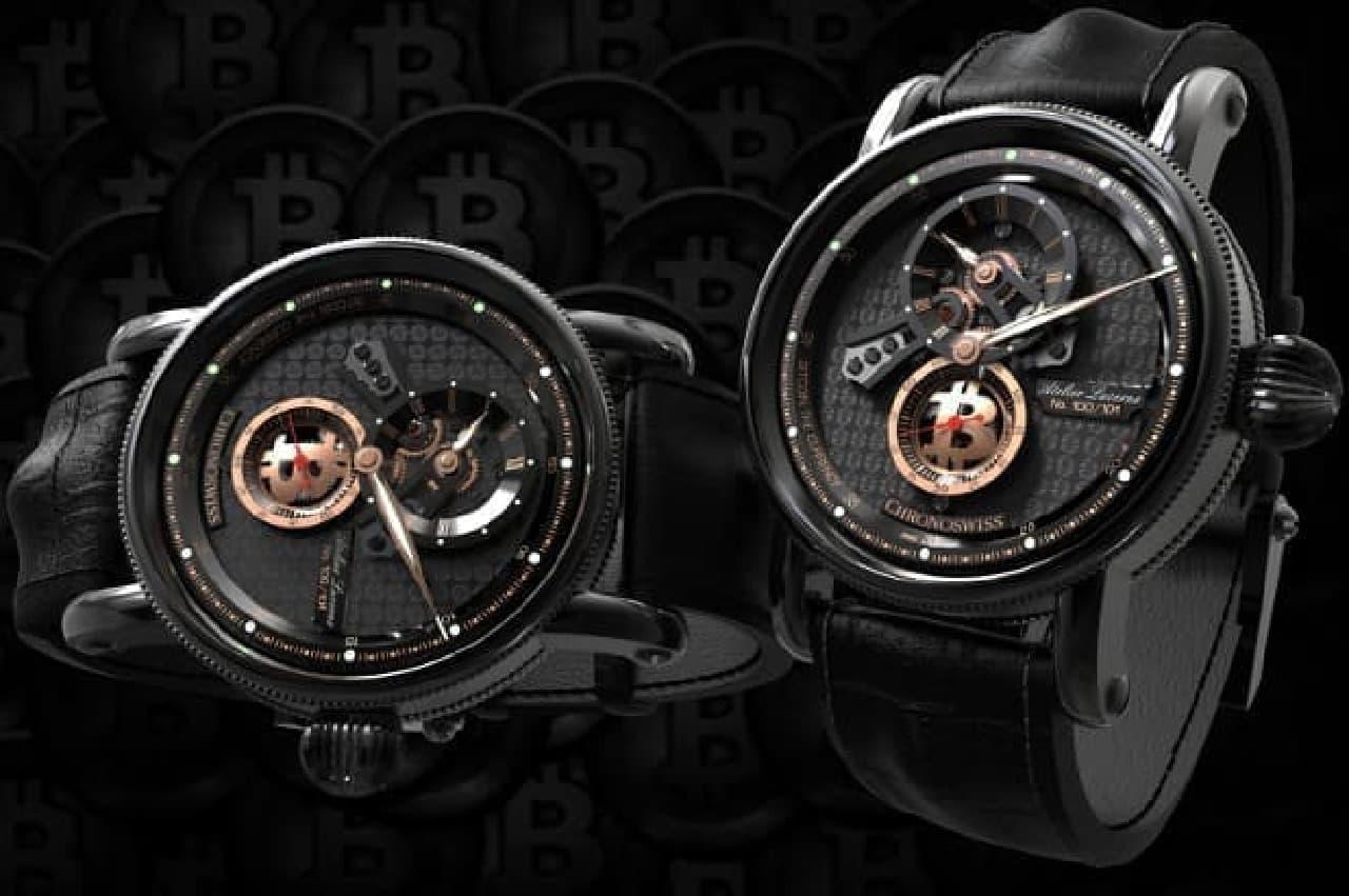 仮想通貨腕時計「クリプトデザイン」のイメージ